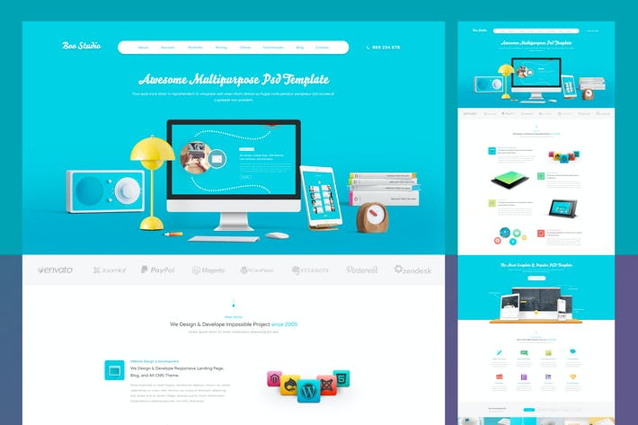 Thumbnail for Flat Coorporate PSD Template