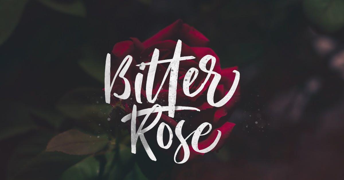 Download Bitter Rose - Brush Font (+TEXTURES) by saridezra