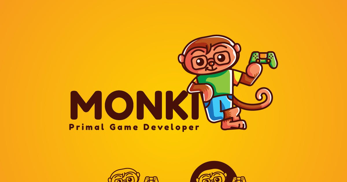 Download Monki Gaming Mascot Logo by vincentllora