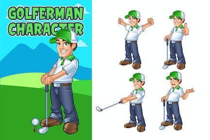 Golferman Mascot Character