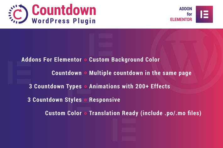 Cover Image For Countdown for Elementor WordPress Plugin