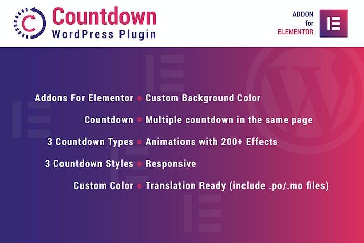 Thumbnail for Compte à rebours pour Elementor WordPress Plugiciels