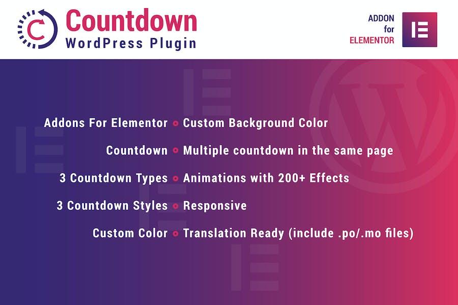 Countdown for Elementor WordPress Plugin