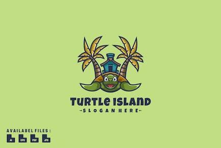 Schildkröteninsel-Logo-Mas
