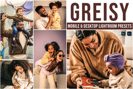 Пресеты Lightroom для мобильных и настольных ПК Greisy