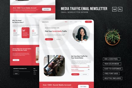 Social Media Traffic - Email Newsletter