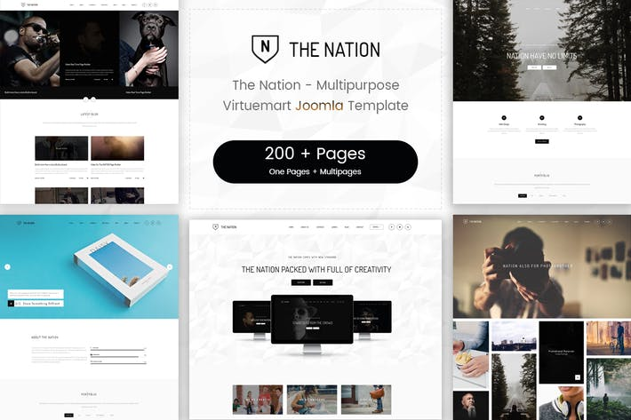 Thumbnail for Nation - Multipurpose Virtuemart Joomla Template