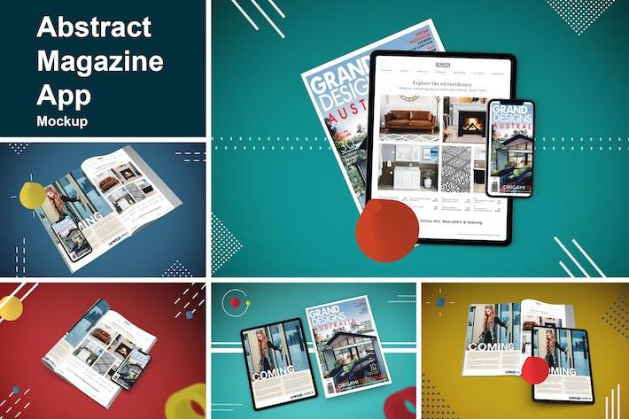 Abstrakte Magazin-App MockUp