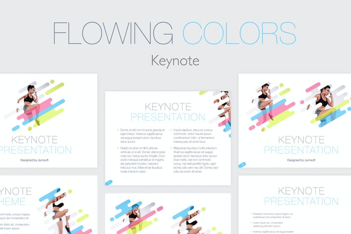 Thumbnail for Flowing Colors Keynote Template