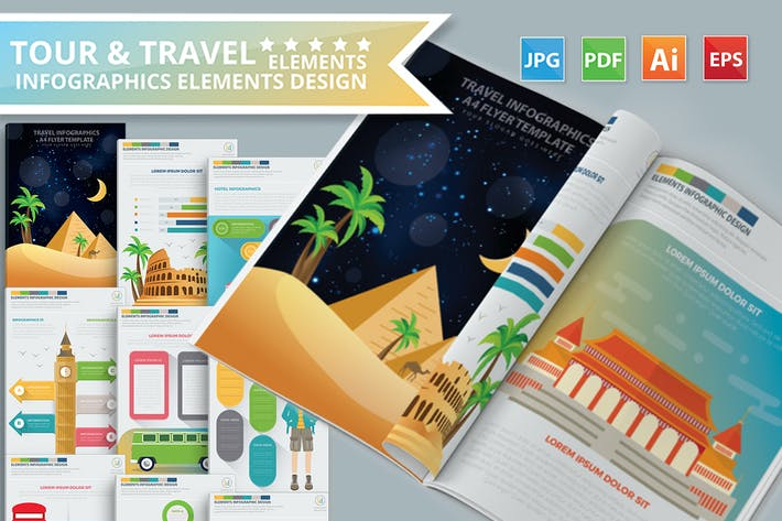 Thumbnail for Tour & Travel Infographics Design