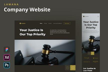 Lawana - Page d'accueil du site Web de
