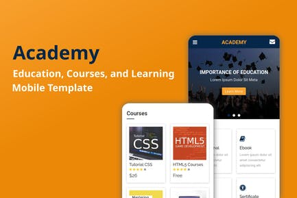 Academy - Education, Courses Mobile Template
