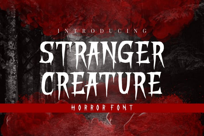Thumbnail for Stranger Creature - Horror Display Font