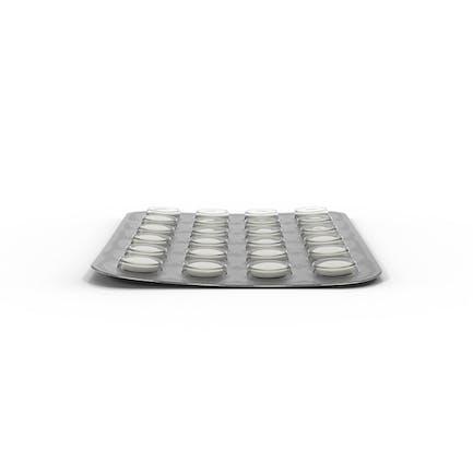 Blister de pastillas redondas