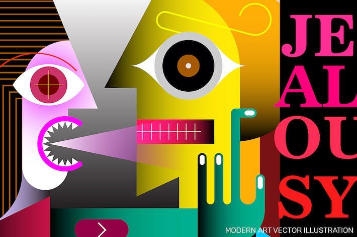 Thumbnail for Jealousy vector illustration