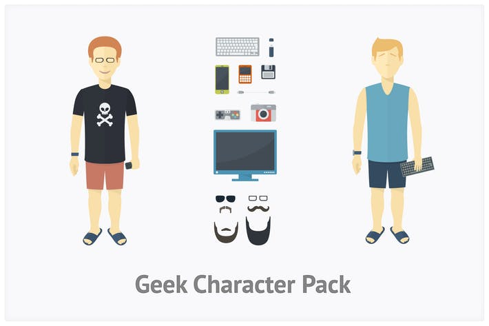 Thumbnail for Geek Character Set
