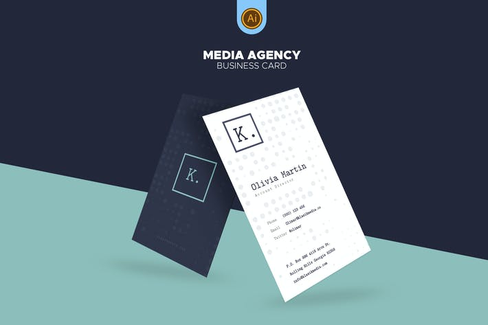 Thumbnail for Media Agency Business Card 05