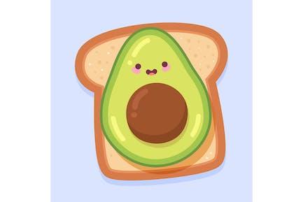 Kawaii Avocado Toast