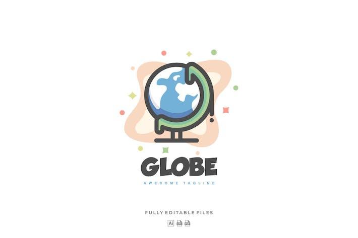Simple Globe Color Line Logo
