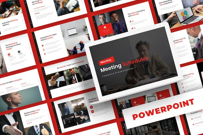 Thumbnail for Meeting Schedule - Powerpoint Template