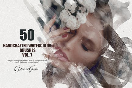 50 Handcrafted Watercolor Brushes - Vol. 7