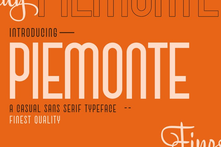 Thumbnail for Piemonte - Casual Sans Serif Police