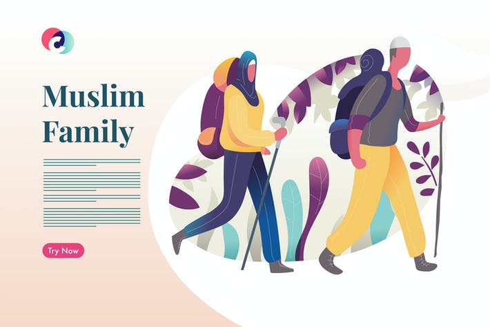 Thumbnail for Muslim Family do hiking