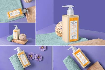 Soap and Hand Sanitizer Dispenser Bottle Mockups