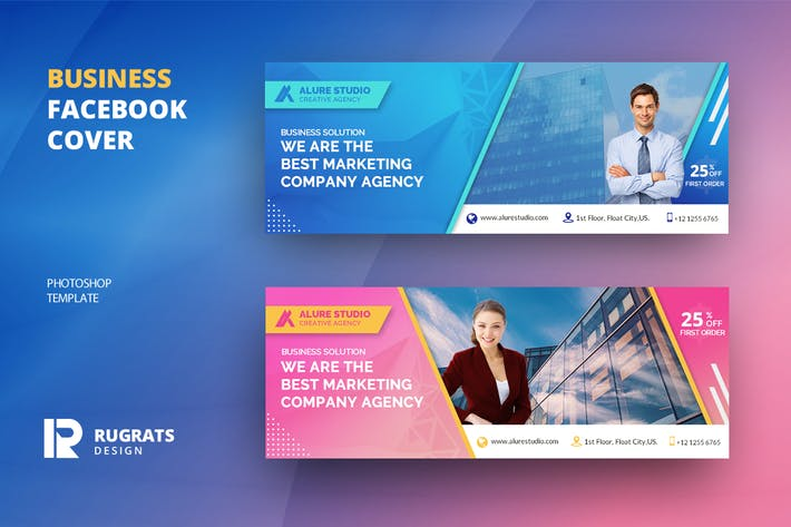 Thumbnail for Business R1 Facebook Cover Template