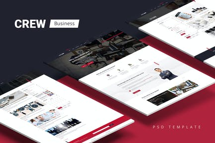 Crew — Business/Corporate Portfolio & Blog PSD