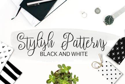 Schwarz und Weiß Stilvolle Muster