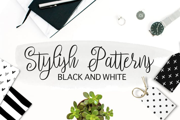 Thumbnail for Black and White Stylish Patterns