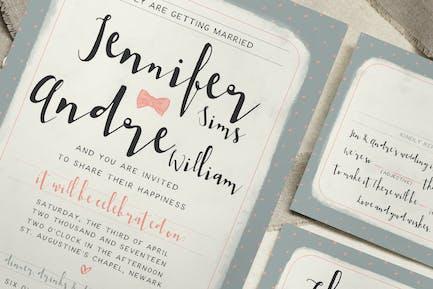 Sweet Polka Dots Wedding Invitation
