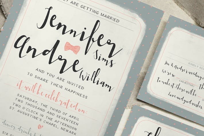 Thumbnail for Sweet Polka Dots Wedding Invitation