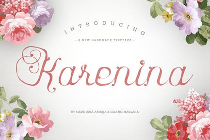 Karenina Font Cute Vectors