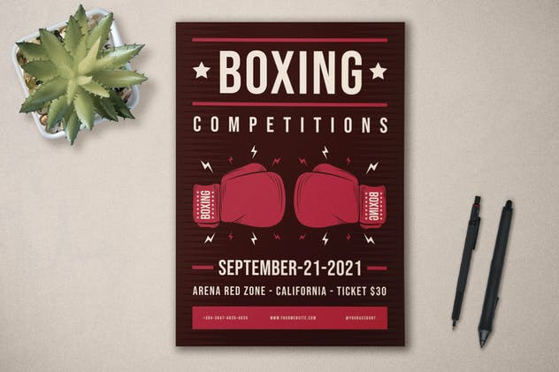 Boxing Competition - Flyer