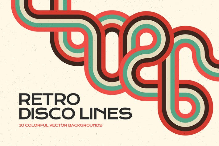 Retro Disco Lines Vector Fondos Pack