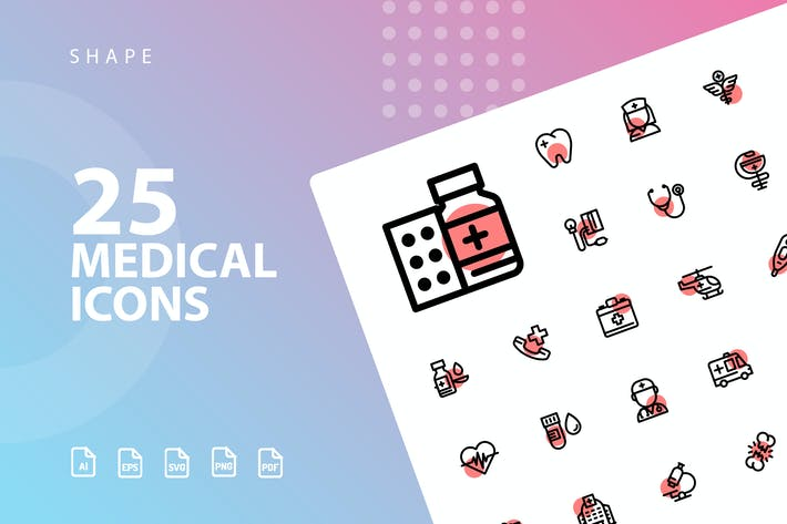 Thumbnail for Medical Shape Icons