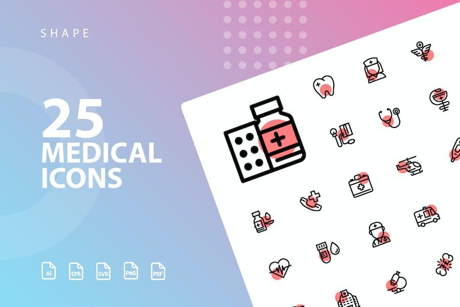 Medical Shape Icons