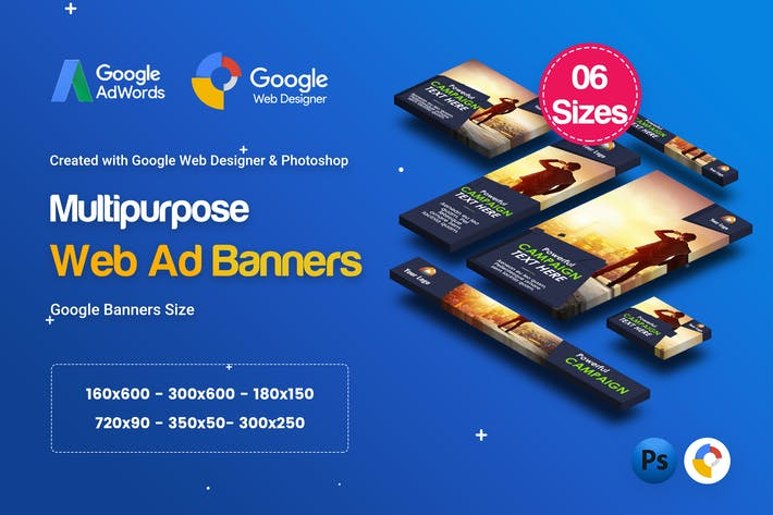 Thumbnail for C23 - Multipurpose, Business Banners Ad GWD & PSD