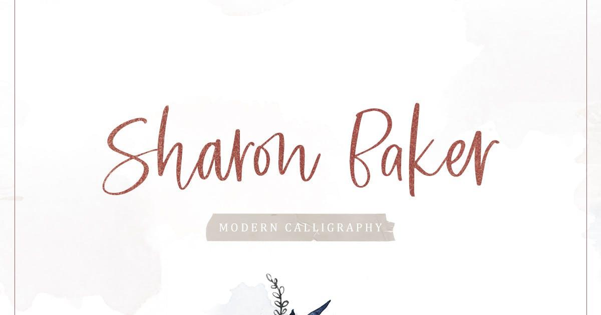 Sharon Baker - Modern Script by letterhend