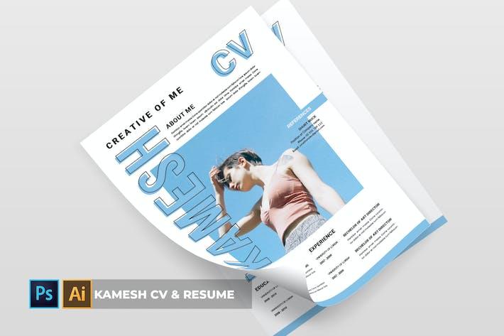 Cover Image For Kamesh | CV & Resume