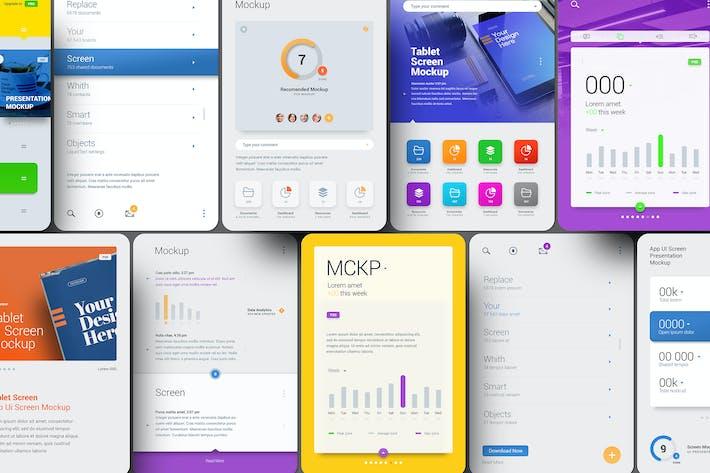 Thumbnail for Tablet Presentation Showcase Mockup