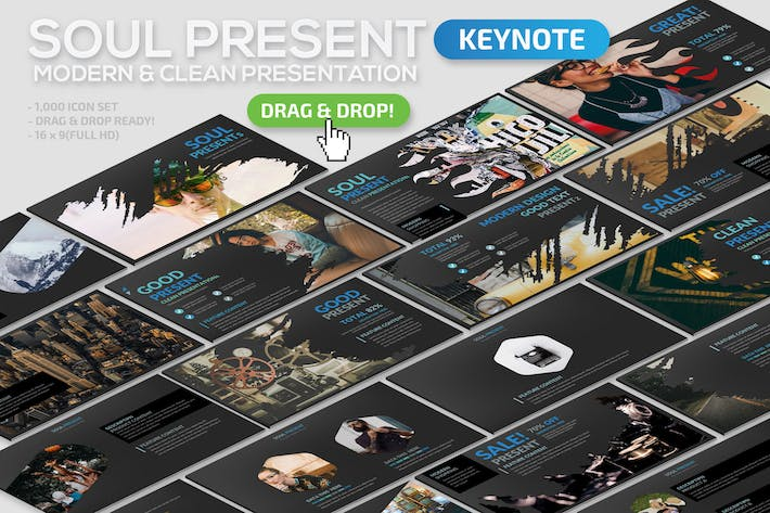 Thumbnail for Soul Keynote Template
