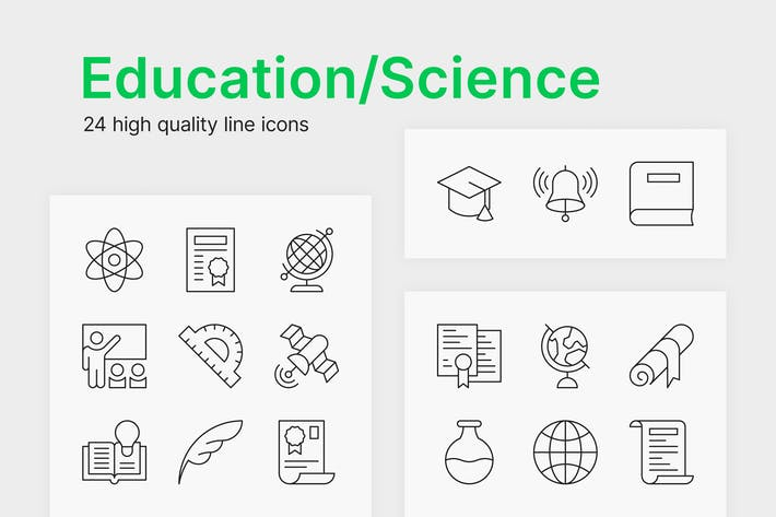 Thumbnail for Education/Science Icons