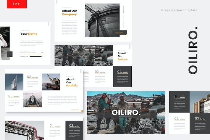 Thumbnail for Oiliro - Шаблон Powerpoint нефтяной промышленности