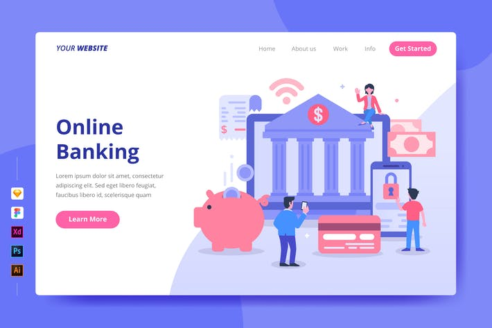 Thumbnail for Online Banking - Landing Page