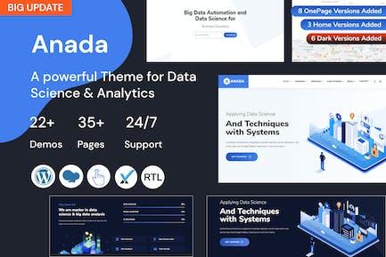 Anada -Data Science & Analytics Landing Page Theme