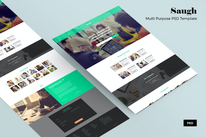 Thumbnail for Saugh – Business PSD Web Template