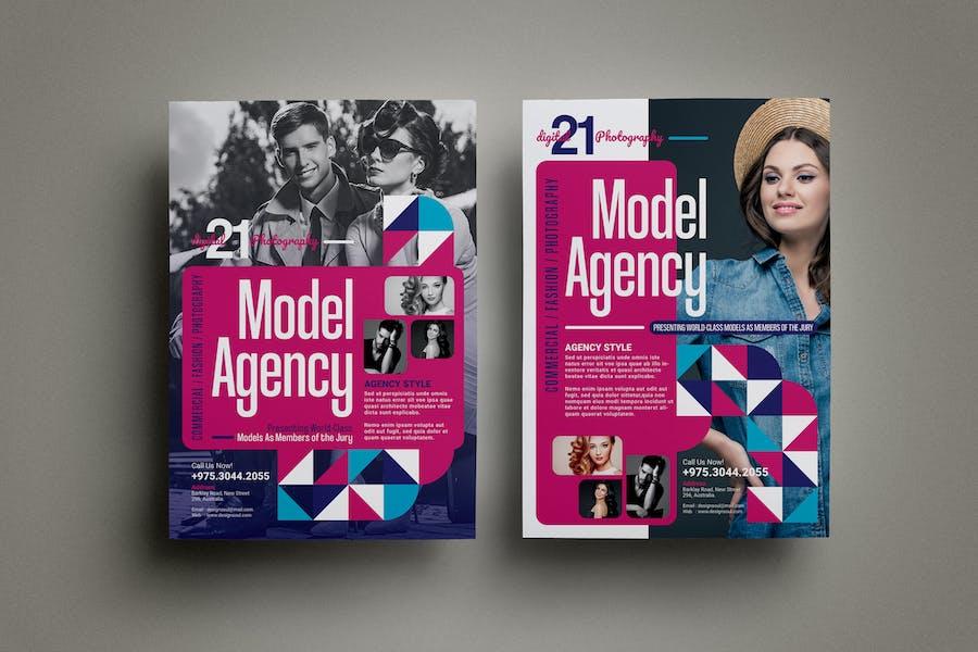 Model Agency Flyers
